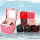鱷魚紋手提皮革珠寶盒 首飾盒 飾品盒 情人節 母親節 生日禮物 禮品-艾發現