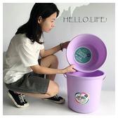 儲水桶塑料水桶學生臉盆套裝手提水桶洗澡洗衣洗腳洗車塑膠桶儲水桶-凡屋FC