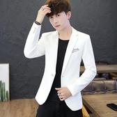 男士時尚休閒西服帥氣單上衣韓版修身小西裝青年學生秋季薄款外套