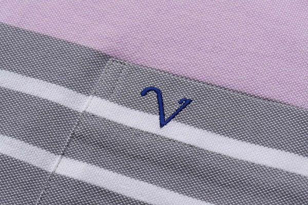 【Emilio Valentino】英倫紳士典雅休閒POL衫 - 粉紅/灰/藍條