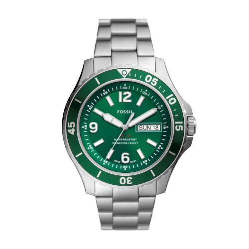 FOSSIL運動潛水綠色時尚腕錶FS5690