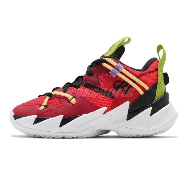 Nike 籃球鞋 Jordan Why Not Zero.3 SE PS 紅 黑 綠 童鞋 中童鞋【ACS】 CN8108-600