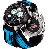 TISSOT 天梭 T-Race MotoGP 專業限量賽車計時手錶-黑x藍 T0484172720700