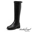 長靴 經典側拉鍊騎士靴(黑)* BalletAngel【18-D666bk】【現+預】