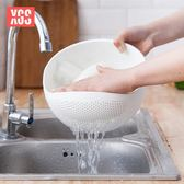 洗菜神器廚房淘米器塑料洗米篩淘米盆瀝水籃洗菜籃加厚水果清洗盆 艾尚旗艦店