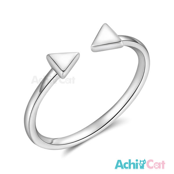 925純銀戒指 AchiCat 尾戒 純銀飾 簡約三角 開口戒