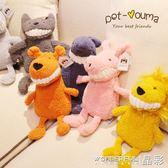寵物玩具 寵物陪睡玩具狗狗約克夏玩具枕頭安撫毛絨玩具 晶彩生活