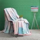 HOMF紅磨坊家紡珊瑚絨毛毯被子加厚夏季單人宿舍學生薄法蘭絨毯子 NMS設計師生活百貨