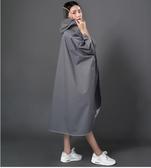 NC-戶外徒步旅遊長款雨衣單人電動車雨衣雨披墨灰色