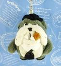 【震撼精品百貨】日本日式精品_狗DOG~絨毛鎖圈-雪茄犬