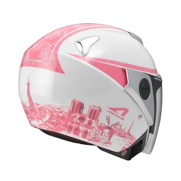 [東門城] ASTONE RS T56 白粉 3/4罩安全帽 內藏式墨片 內襯全可拆洗 眼鏡溝設計