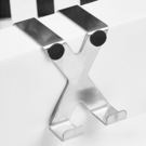 ✭米菈生活館✭【N102】X型不鏽鋼門背掛鉤 門後 櫥櫃 無痕 掛架 衣架 衣鉤 帽鉤 鐵藝