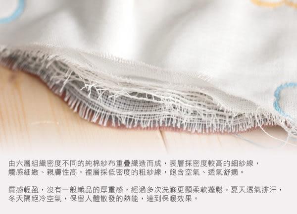 【奇哥】快樂森林六層紗包巾