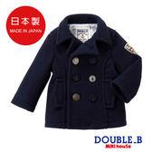 DOUBLE_B   保暖海軍釦大衣(藏藍)