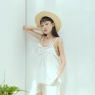 Queen Shop【01096972】桃型領荷葉造型細肩帶背心 兩色售*現+預*