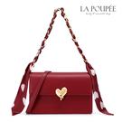 側背包 融化你心絲巾鍊條小方包 時尚紅-La Poupee樂芙比質感包飾 (預購+好禮)
