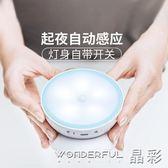 小夜燈 感應led小夜燈櫥柜燈起夜喂奶燈創意USB充電床頭燈 晶彩生活