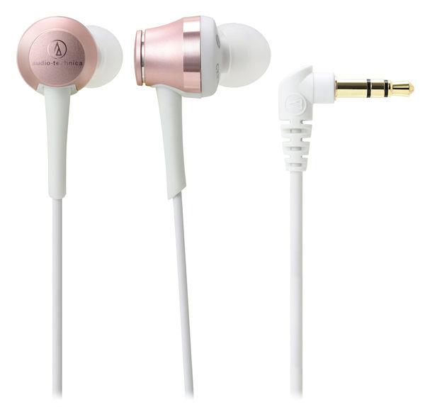 【台中平價鋪】全新 鐵三角 ATH-CKR70 玫瑰金 入耳式耳機  鮮明中高音頻 台灣鐵三角公司貨