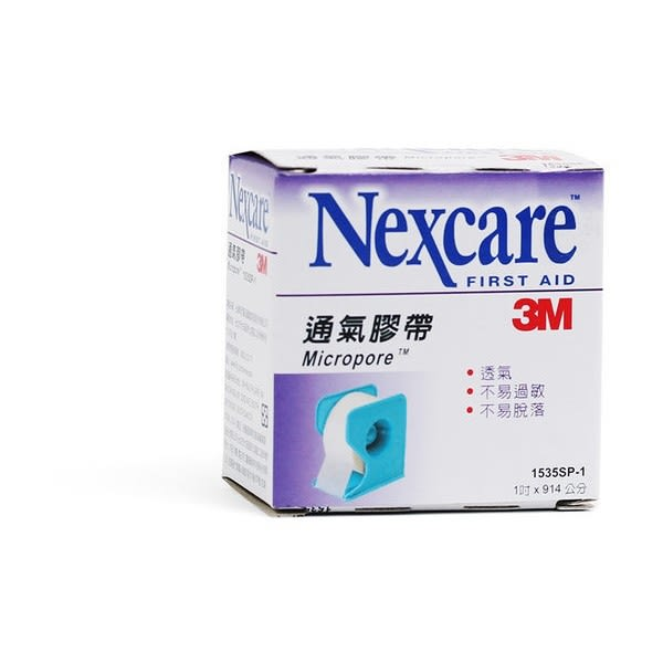 3M 通氣膠帶 透氣膠帶 白色 1吋附台 1入/盒★愛康介護★