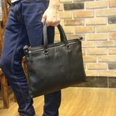 韓版潮流男士手提包荔枝紋男手包公文包時尚商務休閒 可可鞋櫃