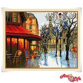 藝術生活立體鑽石貼畫 TD084 巴黎街頭 40*50CM