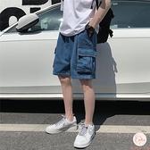 夏季工裝牛仔短褲男大碼寬松直筒五分褲居家褲子【大碼百分百】