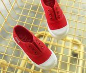 小白鞋2018夏季新款一腳蹬布鞋 ZL764『黑色妹妹』
