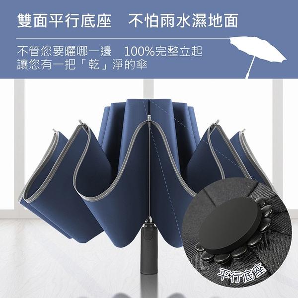 【加強十骨更堅固!自動摺疊雨傘】抗強風 自動傘 摺疊傘 折疊傘 陽傘 雨傘