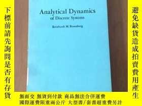 二手書博民逛書店Analytical罕見Dynamics of Discrete Systems(離散系統的分析動力學)Y53