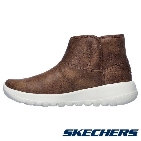 SKECHERS ON THE GO JOY  短靴 皮質 女鞋 駝色 - 15504CSNT