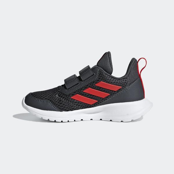 ADIDAS ALTARUN CF K [CG6896] 中童鞋 運動 休閒 跑步 透氣 網布 魔鬼氈 保護 灰紅