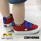 CONVERSE One Star 2V 紅色 帆布魔鬼氈 小童鞋 NO.R2814