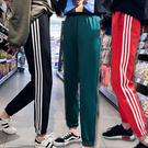 寬鬆條紋拼接束腳九分褲 3色 S-2XL碼【RK67185】