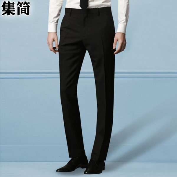 西裝褲 商務西褲男薄款修身西裝褲黑色工裝西服褲子休閑免燙職業正裝褲 霓裳細軟