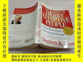 二手書博民逛書店THE7HABITS罕見OF HIGHLY EFFECTIVE PEOPLE《高效人士的7個習慣》Y20039