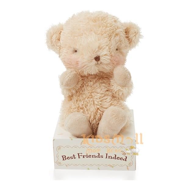 美國Bunnies By The Bay海灣兔,小寶寶熊盒裝玩偶(11CM),Wittle Bear-Warm Honey