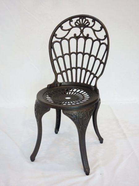 【南洋風休閒傢俱】戶外休閒桌椅系列- 皇冠椅 戶外休閒鋁合金餐椅 鑄鋁戶外椅 (#022C)