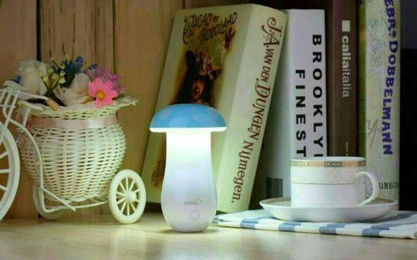 【HANG X10 8000蘑菇檯燈行動電源】雙USB雙出 蘑菇/香菇 造型 小夜燈/檯燈 BSMI商檢認證 移動電源