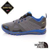 The North Face 男 GORE-TEX低筒輕量登山鞋-灰/藍 【GO WILD】