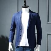 英倫風格子 外貿剪標尾單男士休閒西裝韓版修身西服單西外套男潮  自由角落