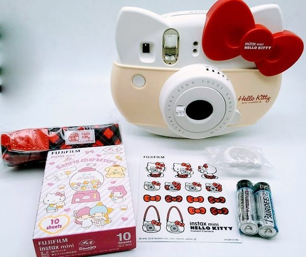 【紅色】富士 Fujifilm instax mini HELLO KITTY 凱蒂貓 40周年 拍立得相機 【恆昶公司貨】猫頭相機 紅色