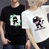 電音衣服DJ周邊潮t恤男女情侶青少年怪貓廠短袖多色小屋
