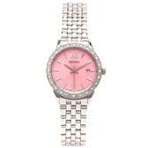 SEIKO 晶鑽粉紅色系女性手錶(SUR693P1)-粉紅/28mm