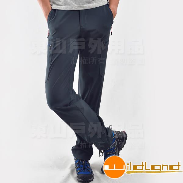 Wildland 荒野 0A22318-49深灰藍 男彈性輕三層防風防潑長褲
