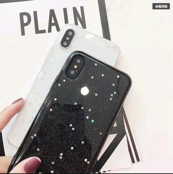 [24H 台灣現貨] 蘋果 iphone 6/6s/7/8 plus ix 簡約 透明 創意 星星 愛心 全包 手機殼 軟殼 保護套