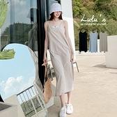 LULUS【A02210032】Y小傘擺棉麻細肩洋裝3色