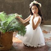 女童夏季連衣裙2018新款5正韓7蕾絲公主裙9歲兒童網紗裙夏天裙子洋裝禮物限時八九折