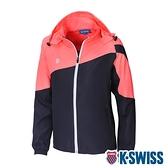 K-SWISS Panel Color Jacket 輕量防風外套-女-灰/橘粉