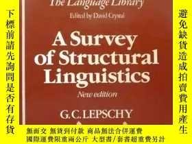 二手書博民逛書店《A罕見SURVEY OF STRUCTURAL LINGUISTICS》New edition, by G. C