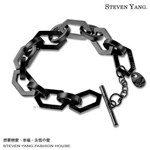 手鍊STEVEN YANG 正白K飾 時尚個性蜂巢 王力宏也愛